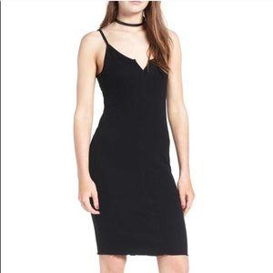 ONE❤️CLOTHING Ribbed Black Bodycon Slip Dress S